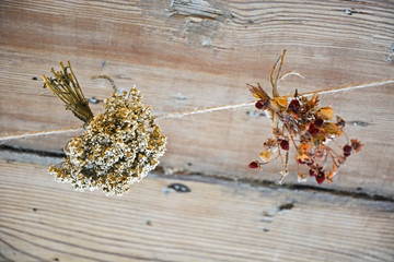 Bunch of dried flowers
