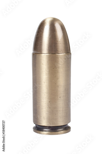 bullet on white background