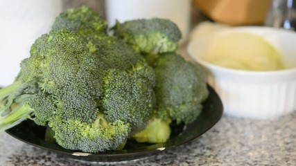 Getting the Broccoli ready for steaming