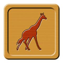 Bottone legno giraffa