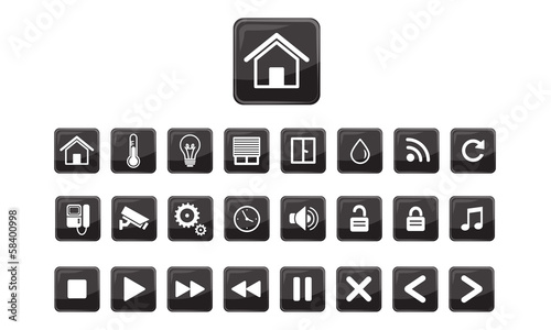 Home Automation Icon Home automation system iconsHome Automation System Icon