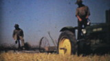 Farmers Harvesting Fields With Tractors-1940 Vintage 8mm film