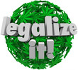 Legalize It Medical Marijuana Leaf Sphere Approve Vote