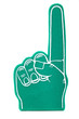 canvas print picture - Foam fan finger on a white background