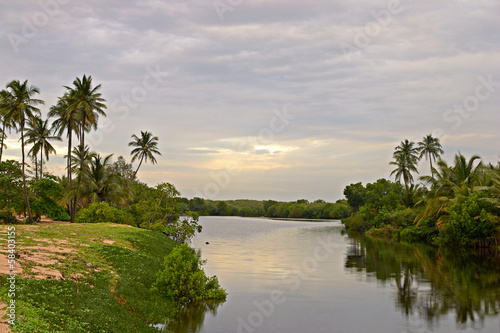 Tangalla backwaters at sunset, Sri Lanka