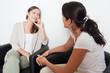 Leinwanddruck Bild - Freundschaft unter Frauen