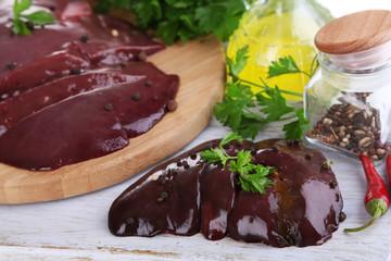 Raw liver