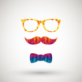hipster with colorful diamond