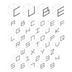 3d cube alphabet and number