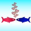 рыба иконка обои любовь