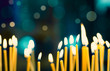 canvas print picture - Church candles on the background bokeh