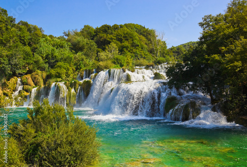 Waterfall KRKA in Croatia