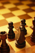 Artistic image of a game of chess