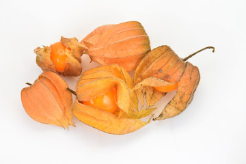 Ripe Gooseberries On White Background
