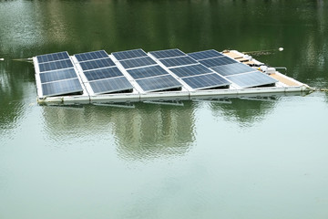 Solar Panels Installation At A Lake