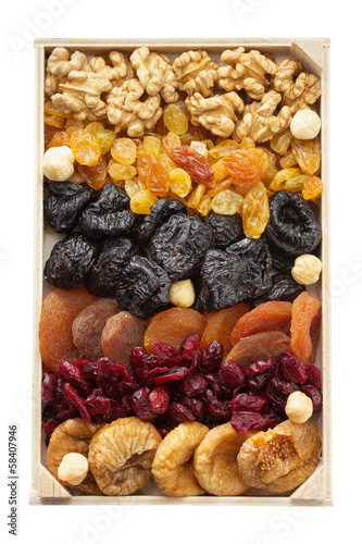 Mixed dried fruits and nuts