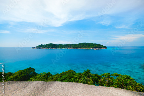 View Point of Similan island in Phang-Nha, THAILAND