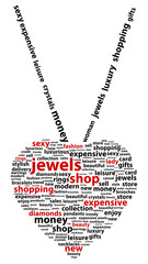 Jewel Shop Word Cloud Concept