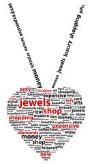 Jewel Shop Word Cloud Concept