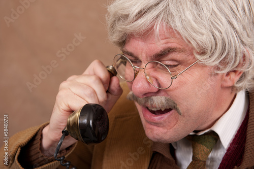Old Man Moaning On The Telephone