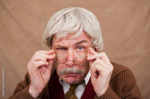 Visually Impaired Old Man