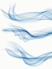 set of abstract blue smoke backgrounds