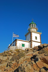 Lighthouse in Akrotiri (Santorini Island - Greece)
