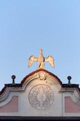 Symbol of palace Estense in Varese