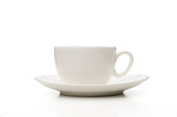 White Porcelain Coffee Cup