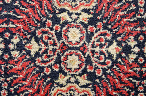 old used ornamental carpet background