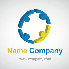 gestion-groupe-gens-administration-humaine-ressource-logo
