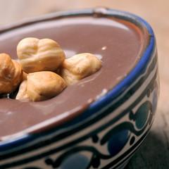 Homemade nut chocolate spread