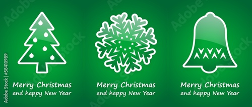 green christmas cards
