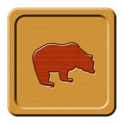Bottone legno orso