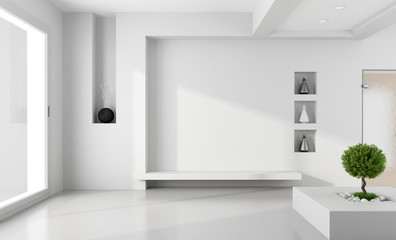Minimalist white room