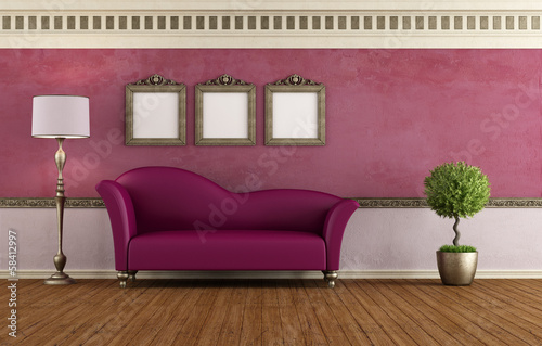 Purple vintage room