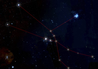 Taurus constellation in deep space