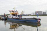boat in amsterdam harbor