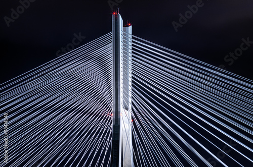 Bridge pylon during the night