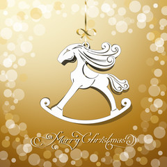 yellow toy horse the symbol of new year