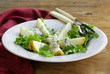 gourmet salad with pear and blue cheese
