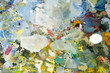 colorful painter art palette tool for paint