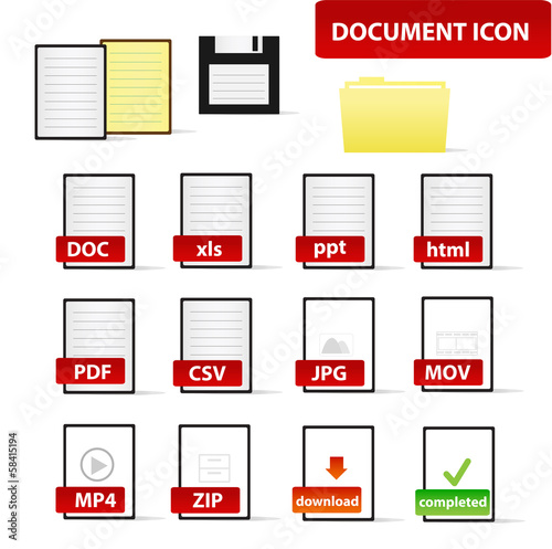 Document Icon for Business and Education Professional