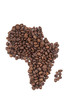Coffee beans shaping Africa