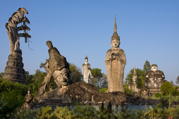 Huge Statues in the Sculpture Park - Nong Khai, Thailand