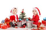 two baby santas
