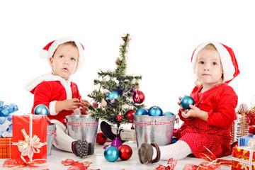 two santa helpers