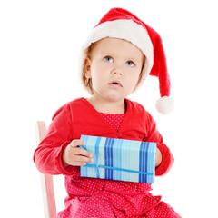 Santa helper with gift