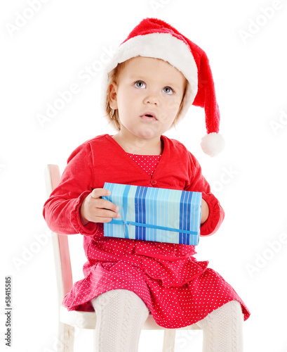 Santa helper with gift