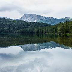 Black lake in Durmitor, Montenegro